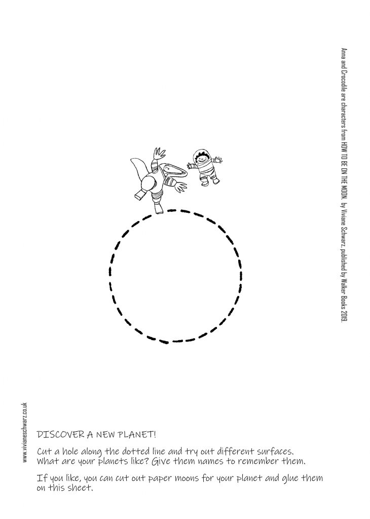activity sheet of Anna and Crocodile discovering new planets